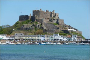 Mont Orgueil Castle on the Isle of Jersey (photo by Lady Dorothy)