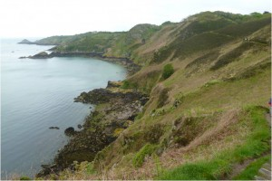 The wild coast of the Isle of Jersey – the perfect location for smuggling and espionage…. (photo by Lady Dorothy)
