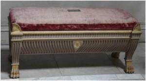 Bench roman style tomb of Agrippa Kedleston