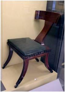 Klismos chair greek fashionable from 1800