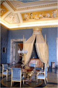 King Ferdinand's bedroom from 1814.