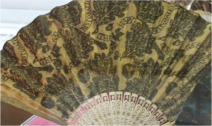 A fan from 1660 celebrating the restoration of the Stuart monarchy.